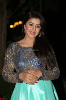 Nikki Galrani in Green Skirt  Top at Marakathamani music launch ~  Exclusive (89).JPG