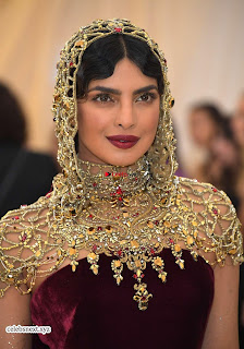 Priyanka Chopra in Maroon Velvet Gown at 2018 MET Costume Insute Gala ~ Exclusive 23