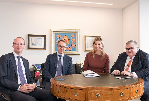 Dutch Queen Maxima attended an international meeting for central bank governors at the Bank for International Settlements