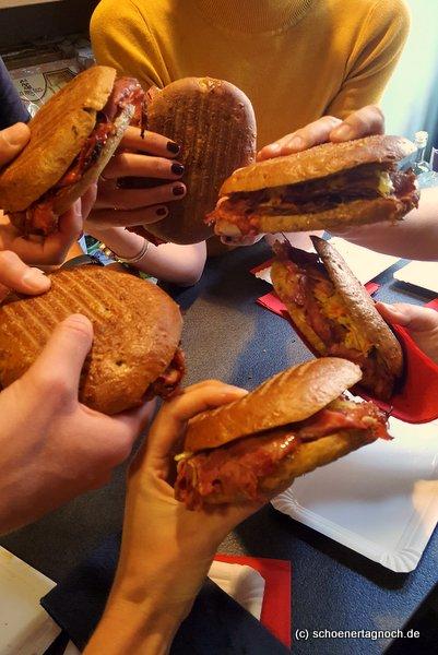 Pastrami-Sandwiches in der Metzgerei Brath in Karlsruhe