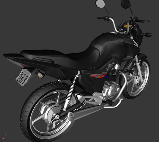 GTA SA - CG FAN 150 PRETA