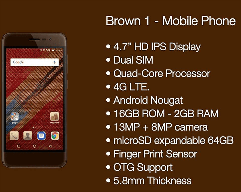 Brown 1 smartphone