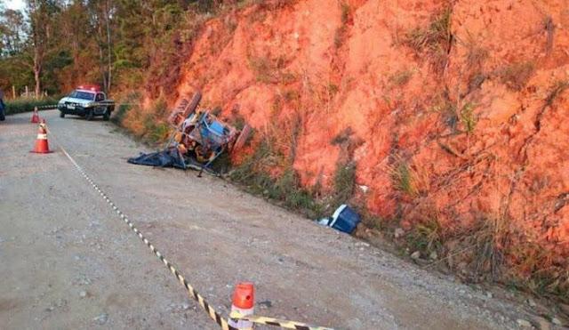 Acidente com gaiola de trilha deixa um morto e dois feridos em Jacutinga(MG)