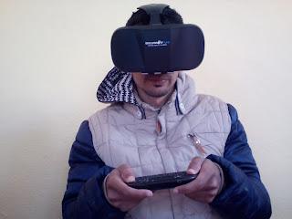 مراجعة لنظارات العالم الافتراضي Review  3D VR Glasses Virtual Reality Headset