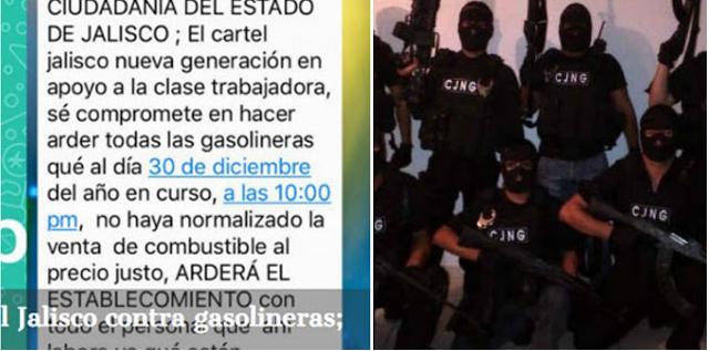 """HOY EL """"C.J.N.G"""" se """"COMPROMETIÓ en HACER ARDER"""" GASOLINERAS en JALISCO"""