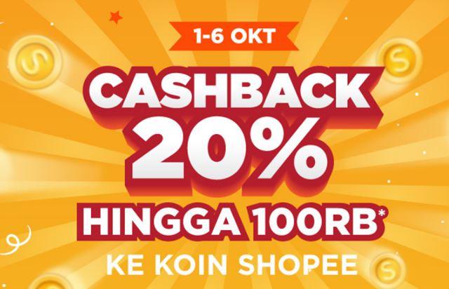 Promo Shopee Cashback 20% - Shopee.co.id