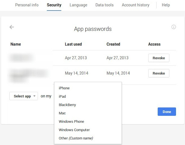 Google Redesigns Settings Page for App Passwords