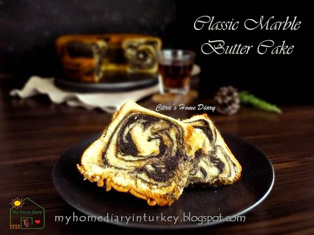 My Best Marble Butter Cake / Resep Bolu Marmer jadul | Çitra's Home Diary. #marblebuttercake #poundcake #buttercake #bolujadul #marmercake #marblecake #coffeecake #resepbolujadul