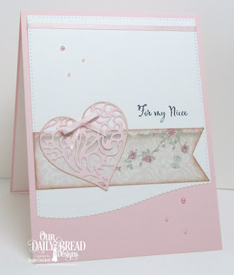 ODBD To My Favorite, ODBD Custom Heavenly Hearts Dies, ODBD Custom Layering Hearts Dies, ODBD Custom Leafy Edged Borders Dies, ODBD Custom Pierced Rectangles Dies, ODBD Shabby Rose Paper Collection, Card Designer Angie Crockett