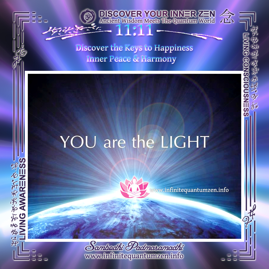 You are the Light - Infinite Quantum Zen, Success Life Quotes, Alan Watts Philosophy