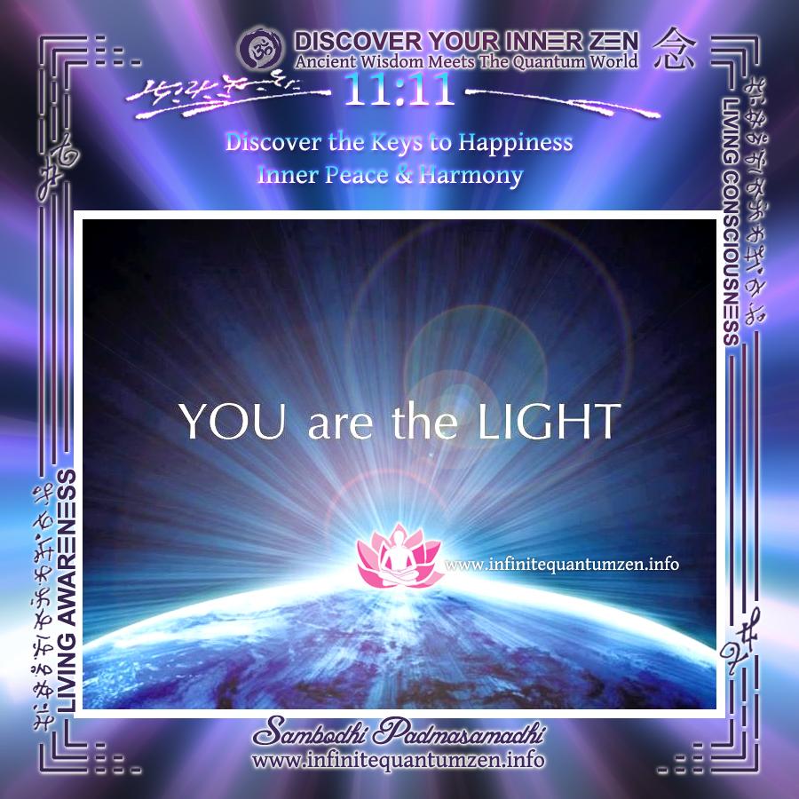 You are the Light - Infinite Quantum Zen, Success Life Quotes, Alan Watts Philosophy