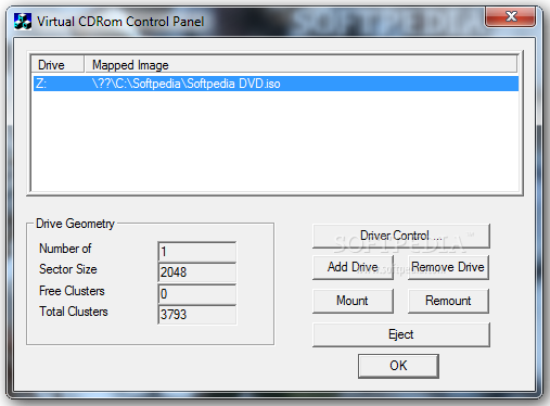 Virtual CD-ROM Control Panel - Tool to Mount ISO Files in Windows XP, Vista and 7 - MJN Tech Web