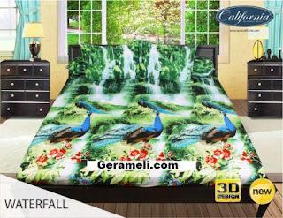Sprei california motif Waterfall