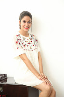 Lavanya Tripathi in Summer Style Spicy Short White Dress at her Interview  Exclusive 111.JPG