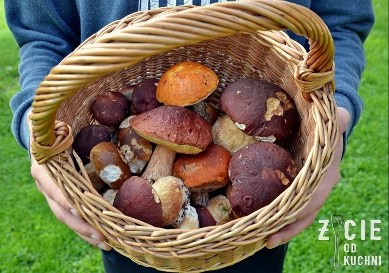 kosz grzybow, prawdziwki, grzybobranie, risotto z grzybami, ryz, danie z ryzu, danie z grzybami, jesienne danie, zycie od kuchni