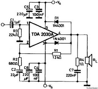 rangkaian amplifier TDA 2030 ~ Dunia Bebas~