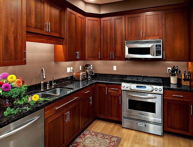 Amazing kitchen Design With Brown Wood Cabinet Designs ...