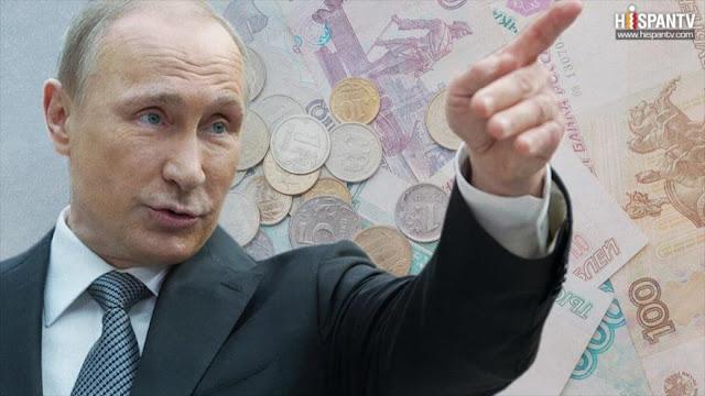 Putin llama a eliminar dólar de EEUU del comercio marítimo ruso