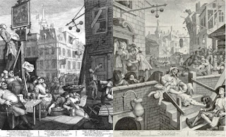 Beer Street and Gin Lane in 1751