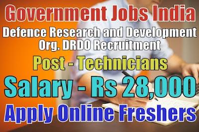 Defence DRDO Recruitment 2019