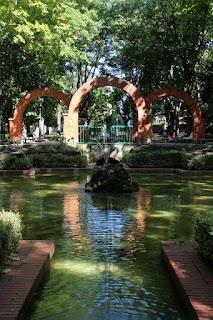Parque de la Media Luna, inicio del paseo por las murallas de Pamplona
