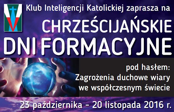 chrzescijanskie dni formacyjne mielec 2016 plakat klub inteligencji katolickiej