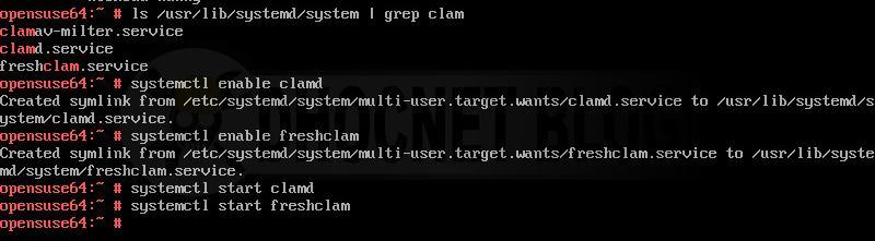 Menjalankan ClamAV Sebagai Service Pada openSUSE Leap