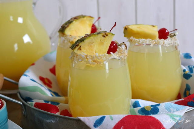 Pineapple Rum Punch recipe from Served Up With Love