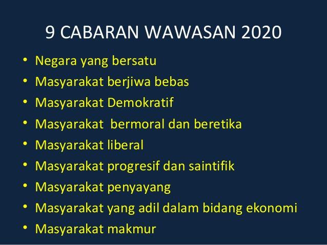 9 Cabaran Wawasan 2020