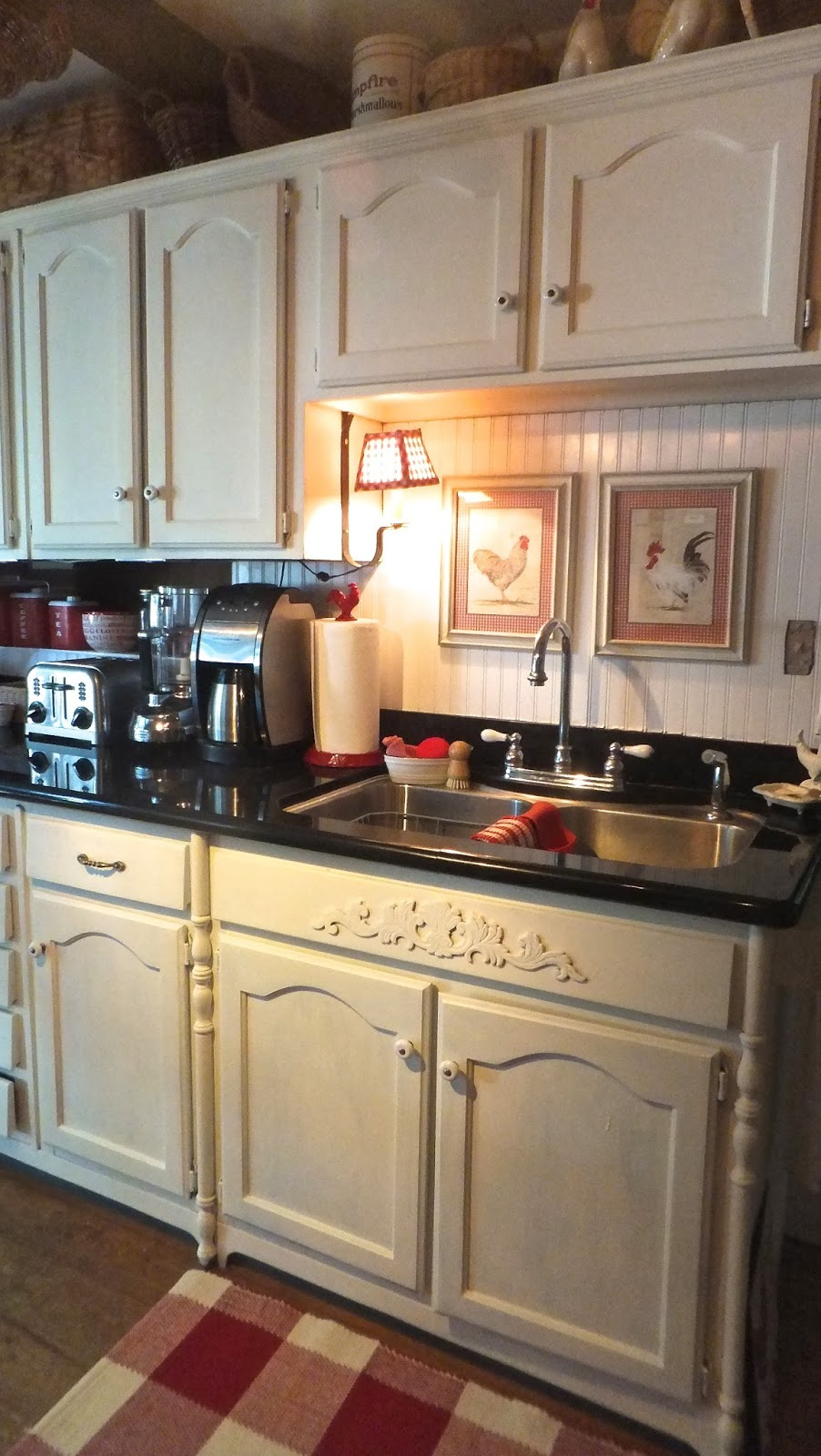 Ash tree cottage freshly painted kitchen cabinets - Painted kitchen cabinets images ...