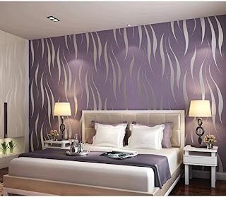 Purple bedroom ideas: Simple purple bedroom wallpaper