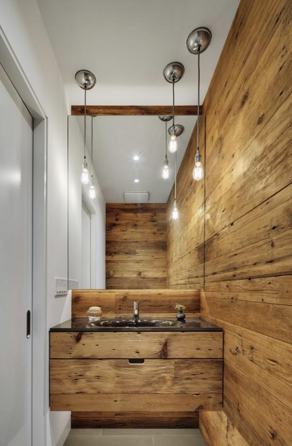 Decoracion Baños Rusticos Pequenos:10 Los baños rústicos también pueden ser baños minimalistas