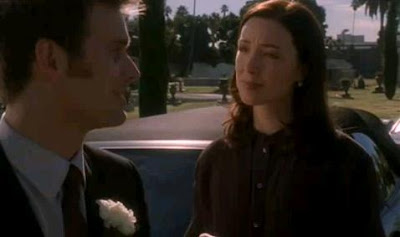 Actress Molly Parker as Rabbi Ari on Six Feet Under