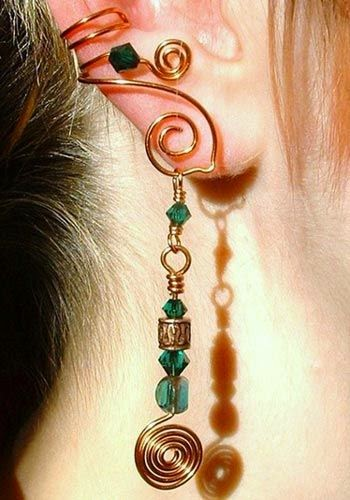 Ear Cuf  & necles home made by sofi