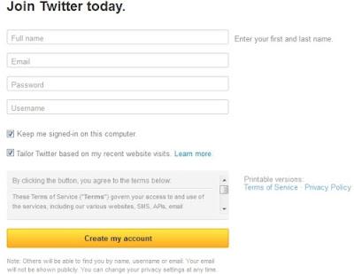terbaru sebetulnya cukup gampang hampir sama dengan cara menciptakan Facebook Cara Daftar/Membuat Akun Twitter Terbaru Lengkap Dengan Panduan