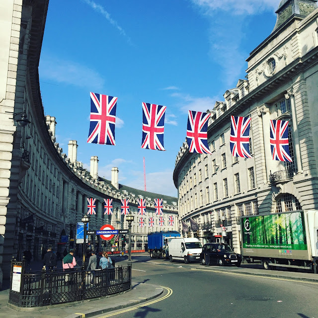 Instagram, Instagram Catch Up, London, Regent's Street, Flags, UK, United Kingdom