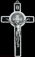 Image result for picture of crucifix with st Benedict cross