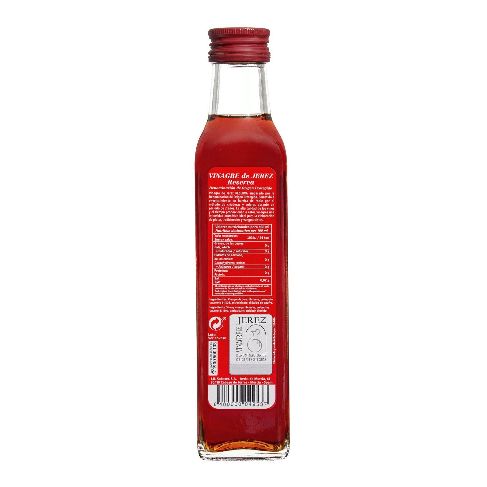 Vinagre de Jerez reserva Hacendado