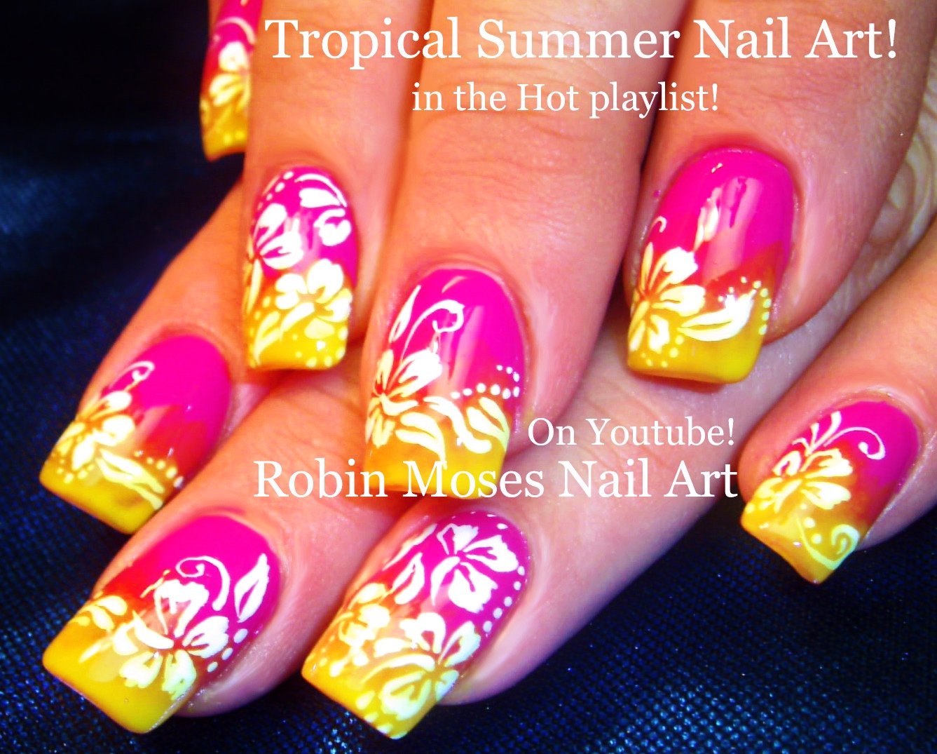Please SHOUT OUT, like, comment and SUBSCRIBE to those who inspire you and  keep our Nail Art community fun and full of NEW ideas! - Nail Art By Robin Moses: DIY Hand Painted Neon Flower Nail Art