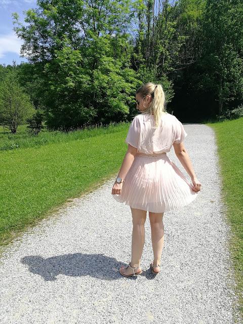 Sommerkleid Plissee