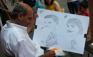 Caricaturas de Izan y Joel.