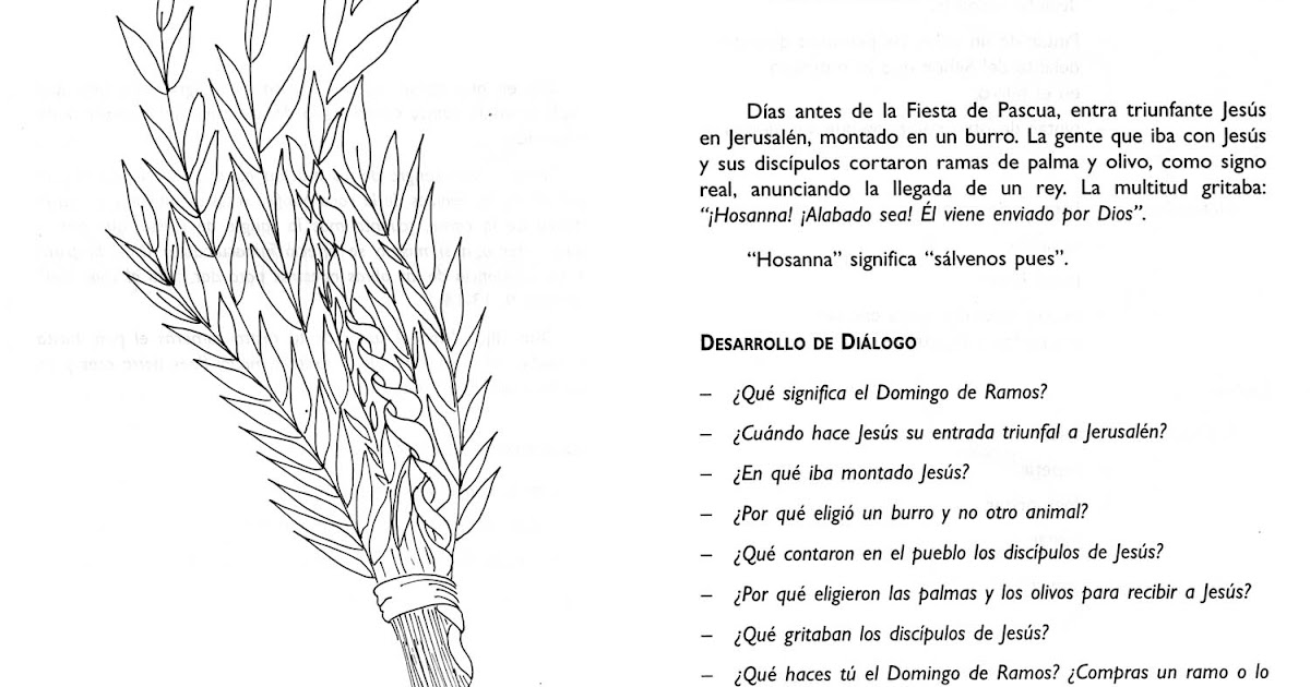 Dibujos Clase De Religion: Clases De Religión Católica: Actividades Domingo De Ramos