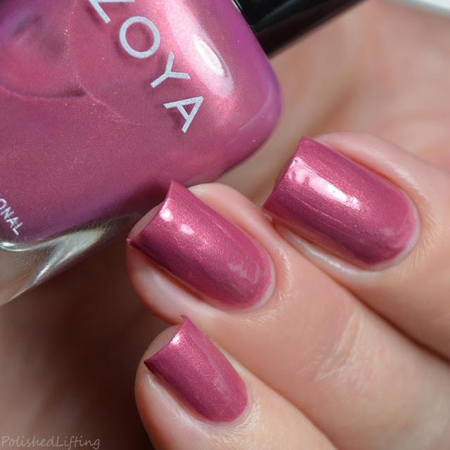 rose shimmer nail polish
