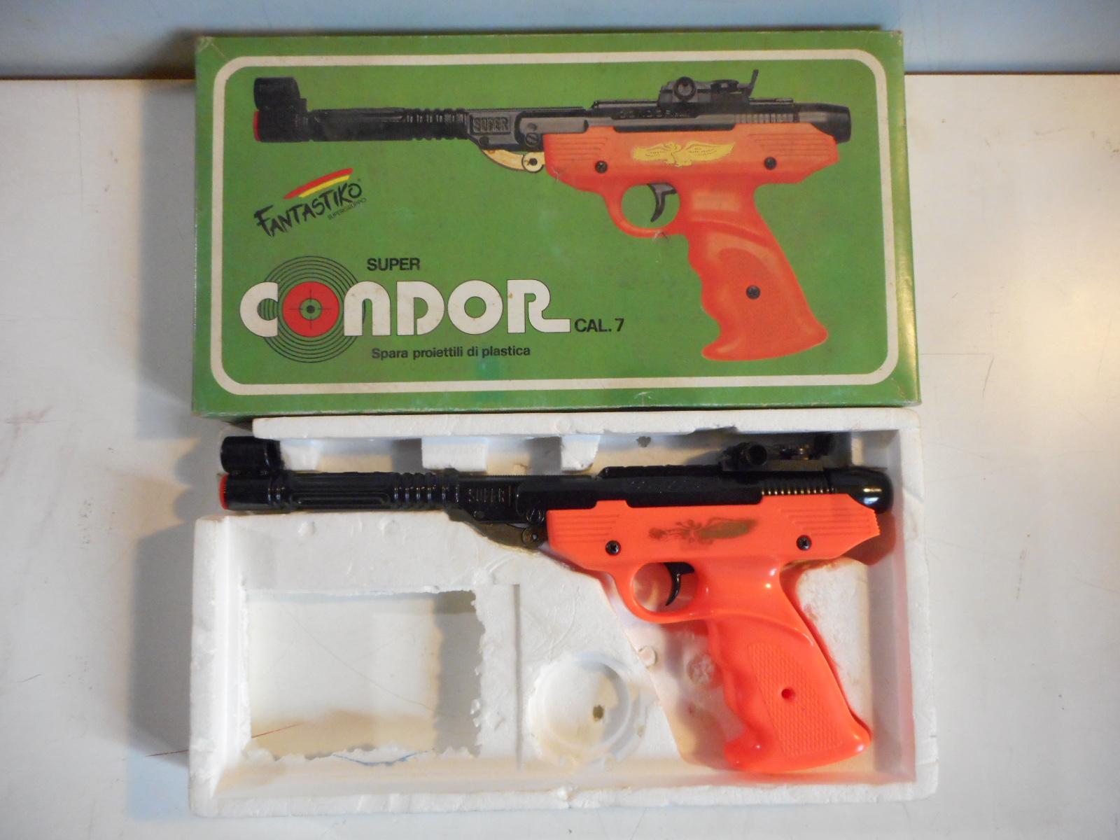 Produzione Giocattoli In Plastica.Rara Pistola Giocattolo Fuori Produzione Condor Arancione Cal 7