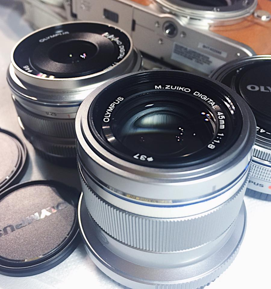 Olympus Pen Lenses 17mm and 45mm