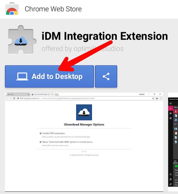 idm extension for chrome not working