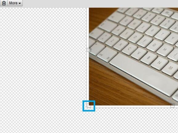 Memperbesar Ukuran Foto Pada Editor