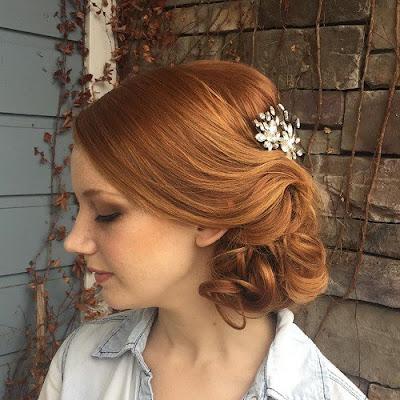 peinados recogidos con diadema