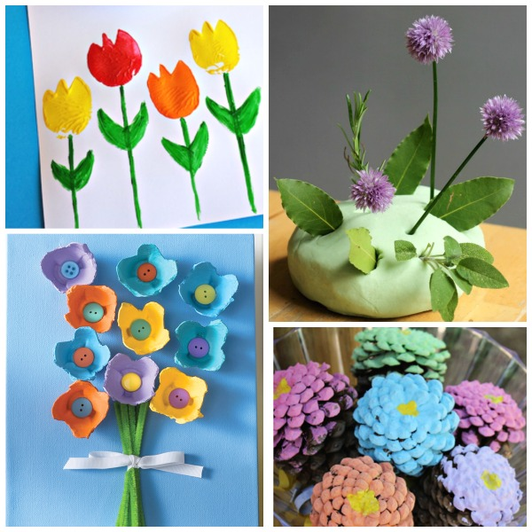 50+ FLOWER CRAFTS FOR KIDS: these are gorgeous! Can we make them all, please? #springcraftsforkids #springcrafts #springcraftspreschool #springkidscrafts #flowers