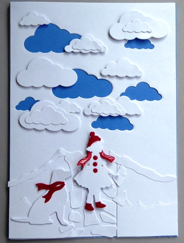 Charmingly Creative: Walking Home Paper Art Card - photo#45
